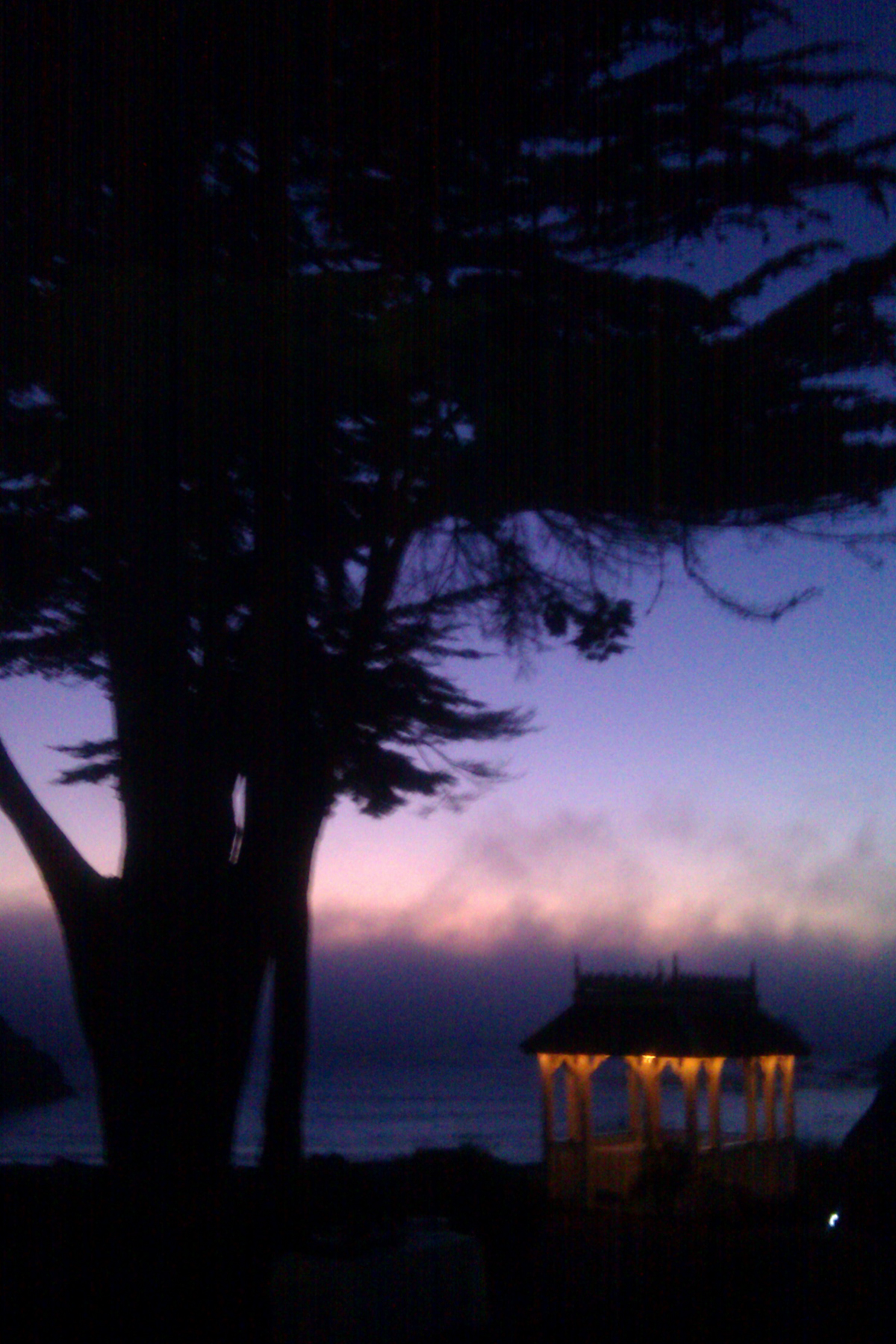 Elk Cove Inn as fog rolls in