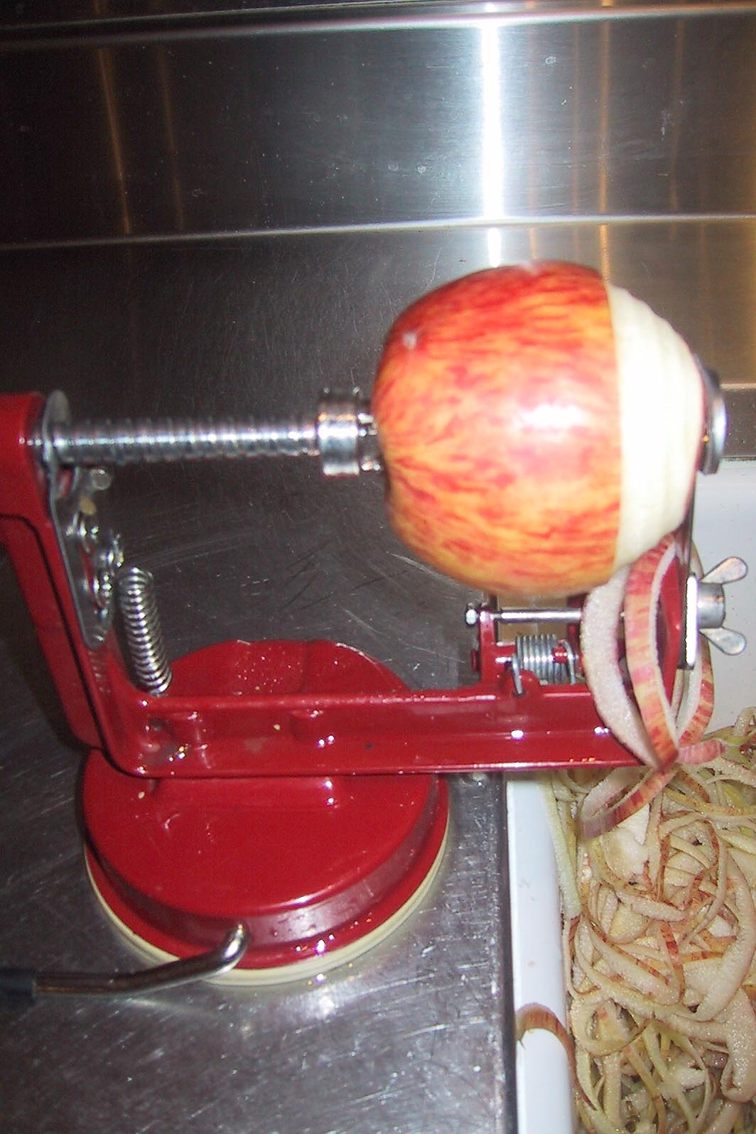 Peeling the apple